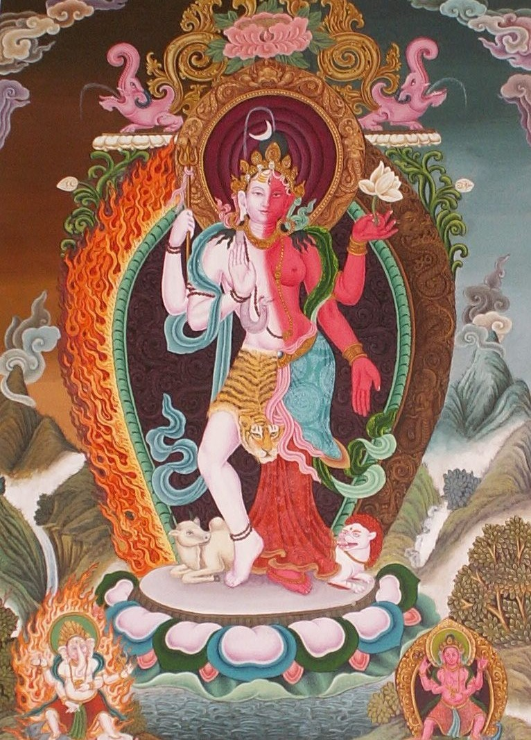 Thangka Newari - Ardhanarishvara 2010